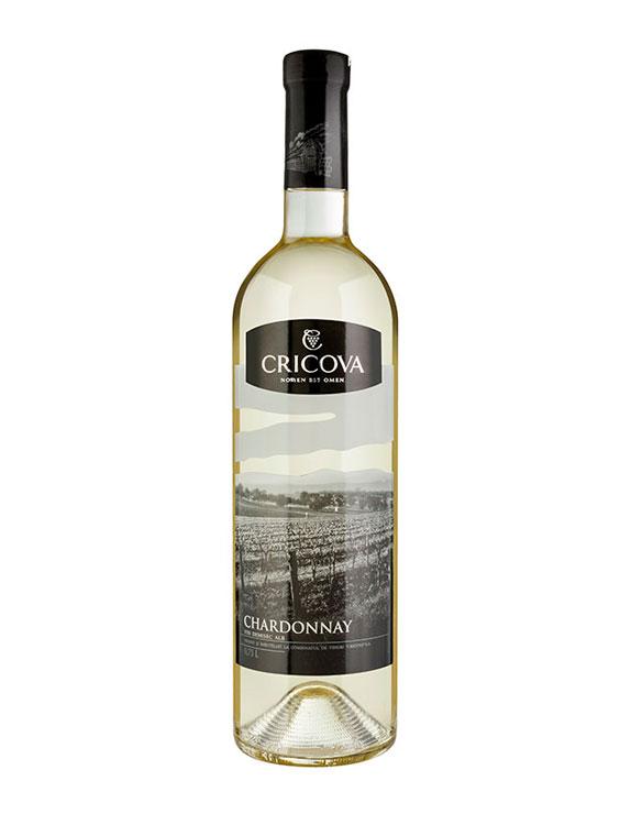 Cricova Vin Alb Demisec Chardonnay 2 bucati X 0.75L
