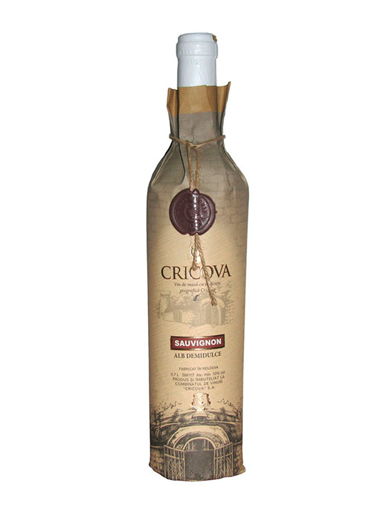Cricova Vin Alb Demidulce Hartie Sauvingon 2 bucati X 0.75L