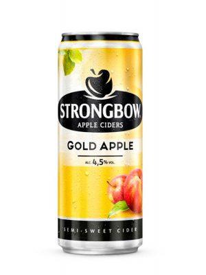 Strongbow Cidru Gold Apple doza 0.33L X 6 bucati