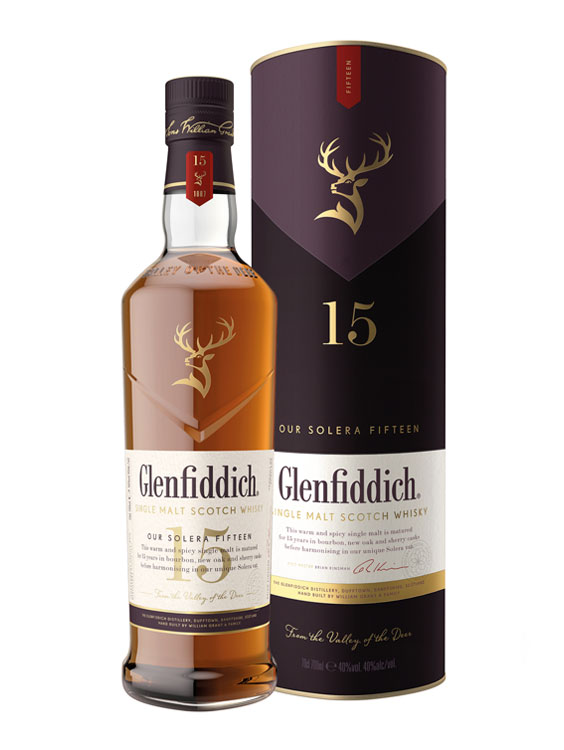 Glenfiddich 15 YO SINGLE MALT WHISKY 0.7L