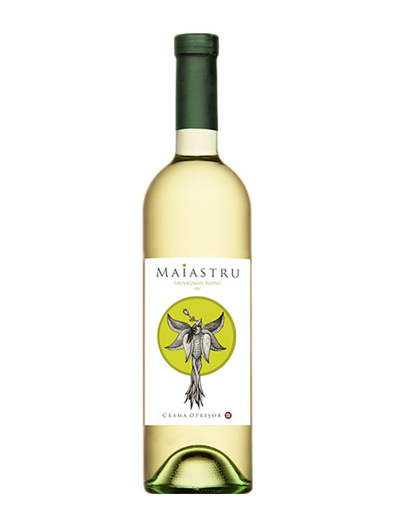 Crama Oprisor Vin Alb Măiastru Sauvignon Blanc 2 bucati X 0.75L