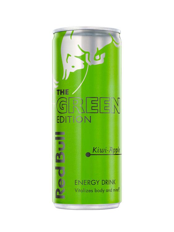 gust de kiwi și măr, aceleași ingrediente de calitate din Red Bull Energy Drink