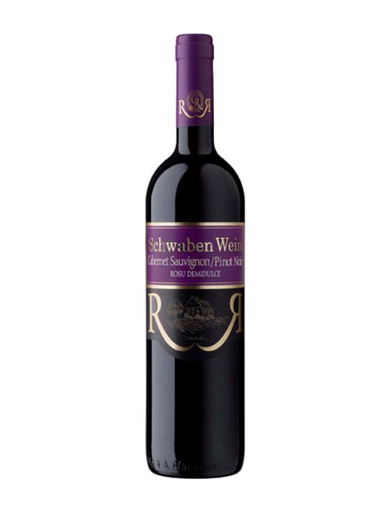 Cramele Recas Vin Rosu Schwaben Cabernet & Pinot Noir 2 bucati X 0.75L