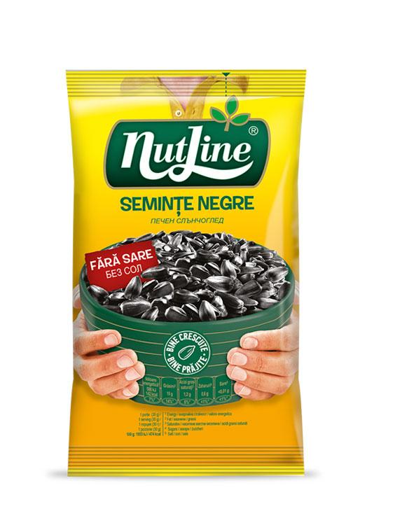 NUTLINE SEMINTE FLOAREA SOARELUI NEGRE CU SARE 10 bucati X 100GR