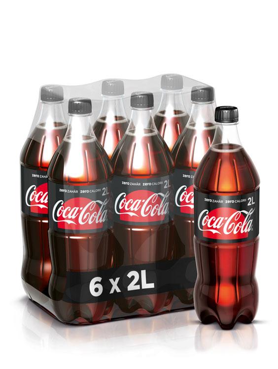 Coca-Cola Zero Zahar PET 6 BUCATI X 2L 2