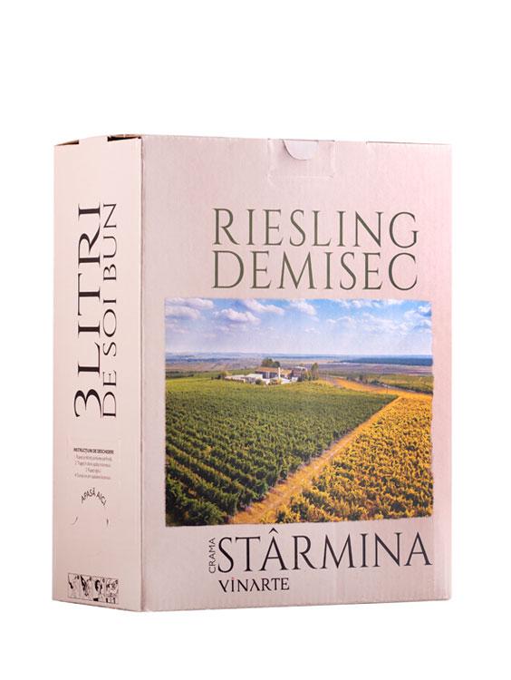 VINARTE Vin Alb Demisec Starmina Riesling BIB 3L