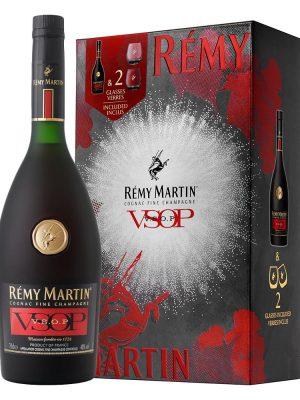 REMY MARTIN COGNAC VSOP 0.7L 2 GLASSES GIFT BOX
