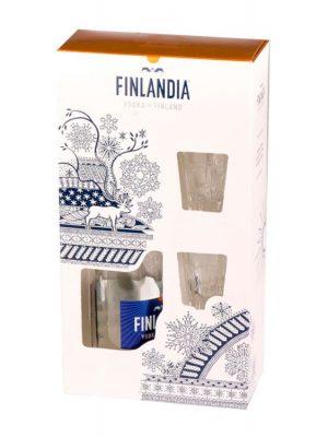 FINLANDIA VODKA 0.7L   2 GLASSES GIFT BOX