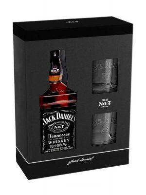 JACK DANIEL'S WHISKY 0.7L 2 GLASSES