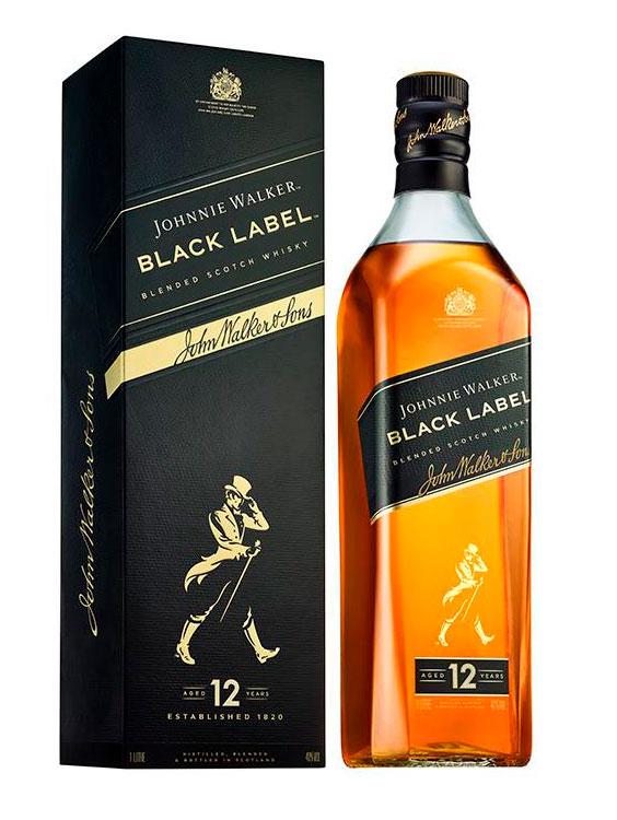 Johnnie Walker WHISKY Black Label 12 YO 0.7L GIFT BOX