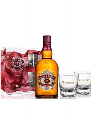 CHIVAS REGAL WHISKY 12YO 0.7L 2 GLASSES
