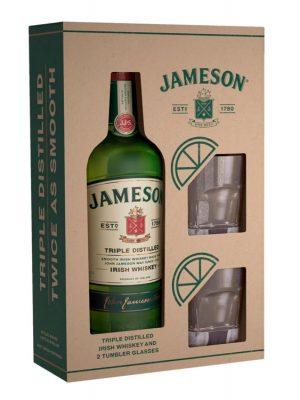 JAMESON IRISH WHISKY 0.7L 2 GLASSES