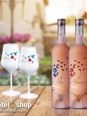 Cramele Recas Vin Rose Muse Day 2 BUCATI X 0.75L   2 PAHARE