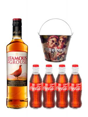 The Famous Grouse Whisky 0.7L & Coca Cola 4 BUCATI X 0.33L