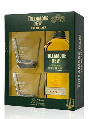 TULLAMORE D.E.W. WHISKY 0.7L 2 GLASSES