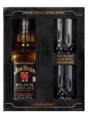 JIM BEAM WHISKY BLACK 0.7L 2 GLASSES