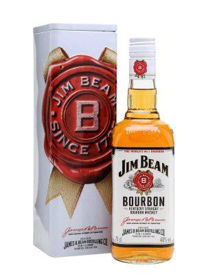 JIM BEAM WHISKY WHITE 0.7L METAL BOX