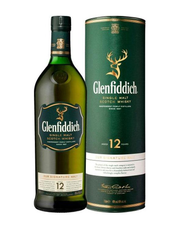 GLENFIDDICH 12 YO SINGLE MALT WHISKY 1L