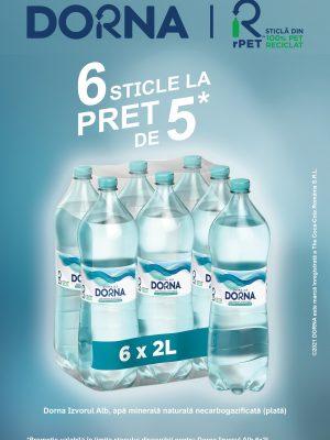 Dorna APA PLATA PET 6 BUCATI X 2L (5+1 GRATIS)