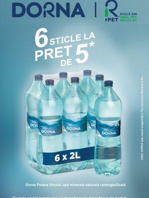 Dorna apa minerala PET 6 BUCATI X 2L (5+1 GRATIS)