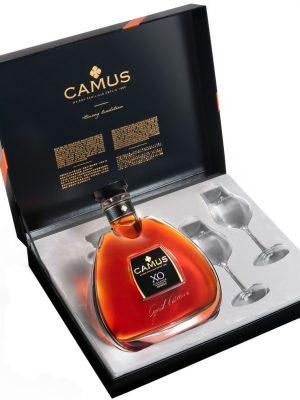 CAMUS COGNAC XO ELEGANCE 0.7L 2 GLASSES