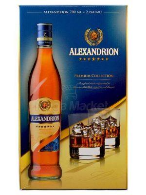 ALEXANDRION BRANDY 7 STELE 0.7L 2 GLASSES