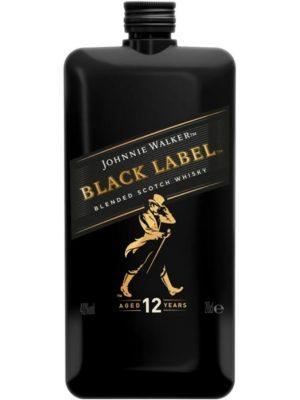 JOHNNIE WALKER WHISKY BLACK LABEL 12YO POCKET 0.2L