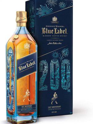 JOHNNIE WALKER WHISKY BLUE LABEL 200TH ANNIVERSARY 0.7L