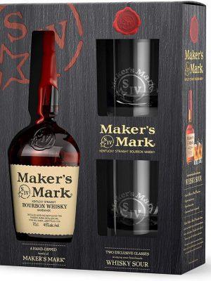 MAKER'S MARK WHISKY 0.7L 2 GLASSES
