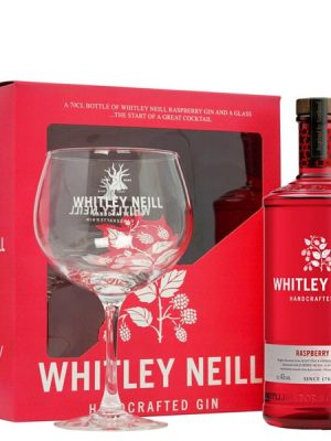 WHITLEY NEILL GIN RASPBERRY 0.7L + 1 GLASS