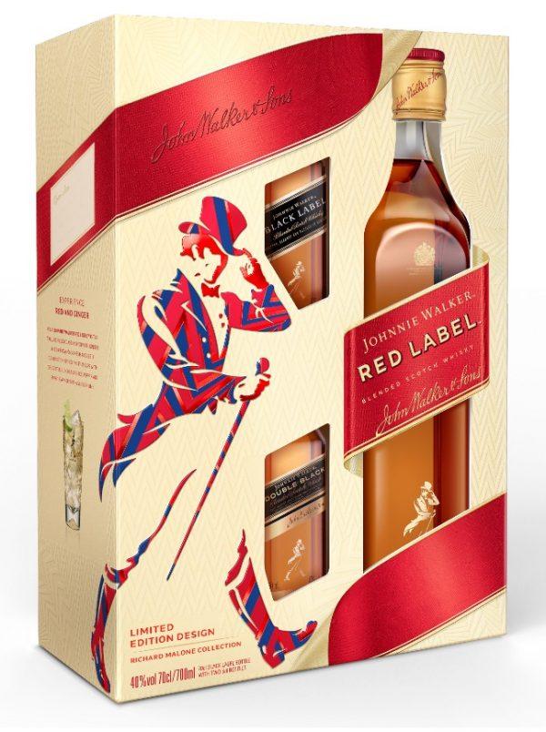 Johnnie Walker Whisky Red Label 0.7L + 2 x BLACK LABEL 12 YO 0.05L